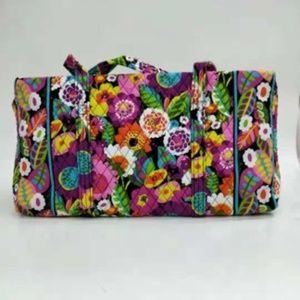 NWT Vera Bradley large duffel Bag Va Va Blooms